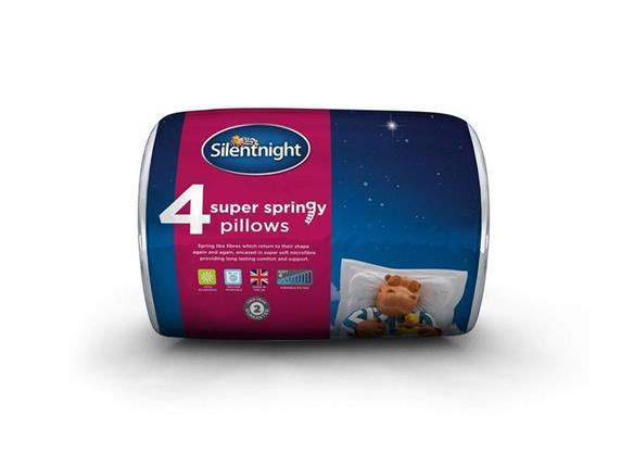 Silentnight Super Springy Pillow 4 Pack
