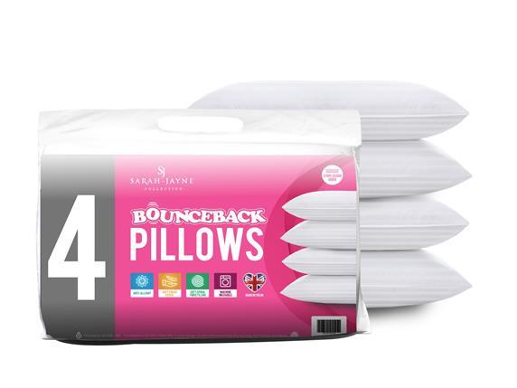 Sarah Jayne Bounceback Pillow 4 Pack