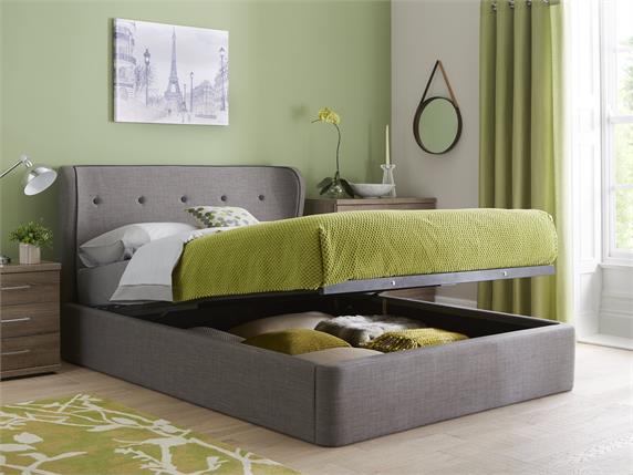 Cooper Fabric Ottoman Bedframe