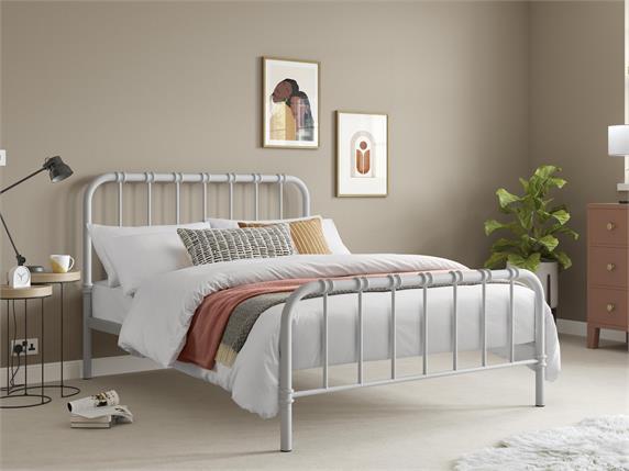 Jordan Grey Metal Bedframe