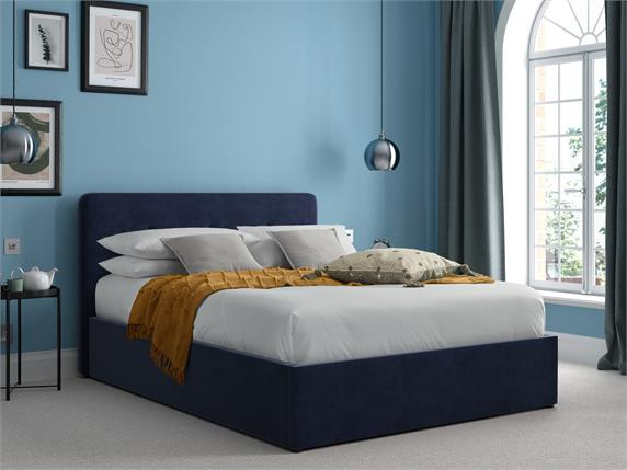 Lamplugh Velvet Ottoman Bedframe