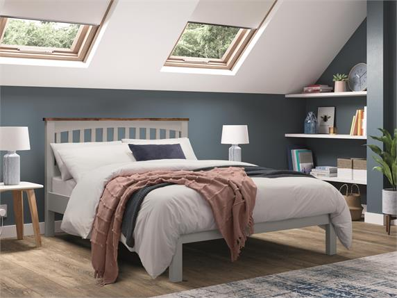 Miles Wooden Two Tone Bedframe