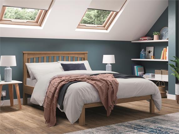 Miles Oak Wooden Bedframe