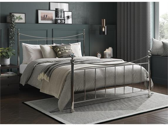 Lizzie Nickel Bed- Small Double