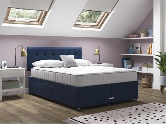 Sleep and Snooze Blue 2 Drawer Divan Base