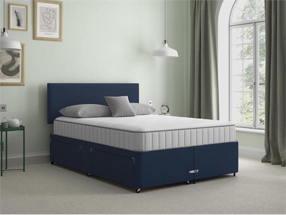 Sleep and Snooze Blue 4 Drawer Divan Base