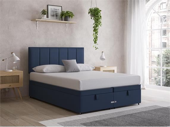 Sleep and Snooze Blue Ottoman Divan Base
