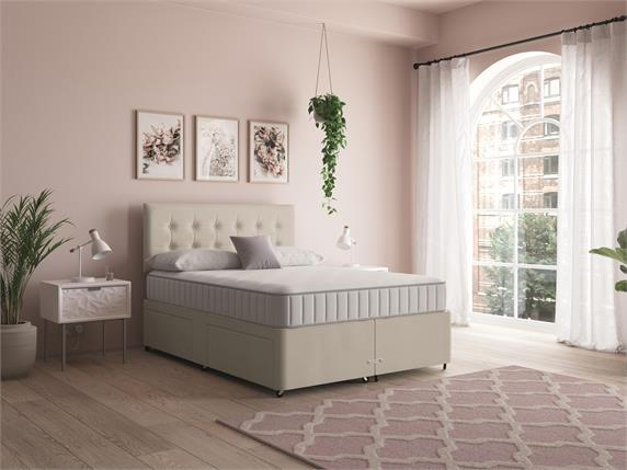 Sleep and Snooze Beige 4 Drawer Divan Base