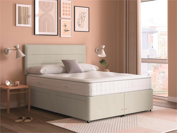 Sleep and Snooze Beige 2 Drawer Divan Base