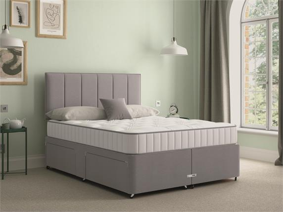 Sleep and Snooze Grey 2 Drawer Divan Base