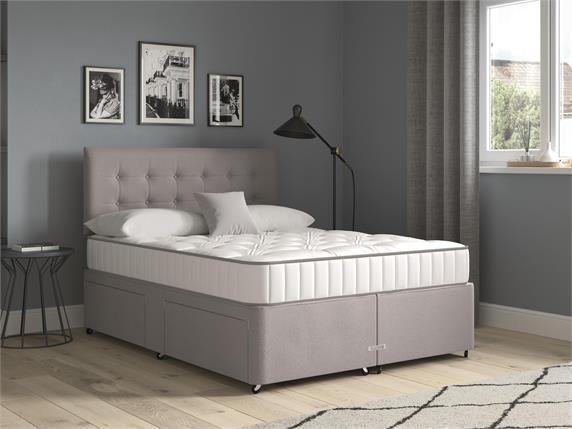 Sleep and Snooze Grey 4 Drawer Divan Base